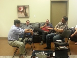 David Hsieh from Ubiquiti having a casual chat with Calgary SpiceCorps members.