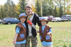 Raimond, Randal & Rembrandt at Scout Camp 2010