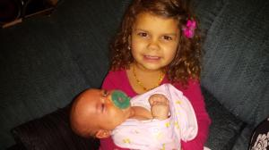 Cydnee gets some cuddle time with her new niece, Josie