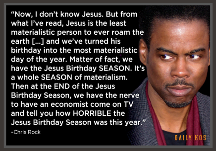 ...new found respect for Chris Rock.