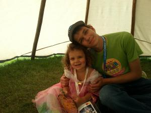Princess Cydnee and big brother Raimond in a TeePee