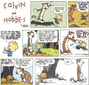 moral relativism - Calvin and Hobbes
