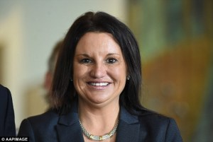 Independant Senator from Tazmania, Jacqui Lambie
