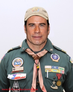 John Travolta purportedly dressed like a scout master for an audition